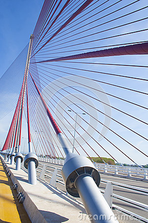 The cable-stayed bridge Talavera, Toledo.Puente of Castilla La M