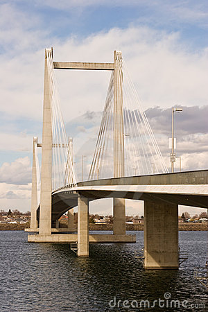 Free Cable Suspension Bridge Day Shot Royalty Free Stock Photos - 10890478