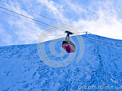 Cable almost at the top of Kaprun glacier