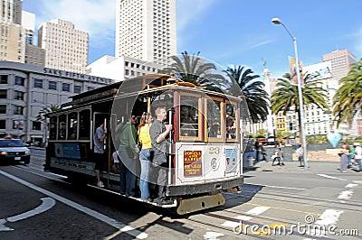 Cablecar in San Francisco Editorial Stock Photo