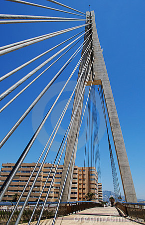 Cabled Bridge, Fuengirola, Andalusia, Spain.
