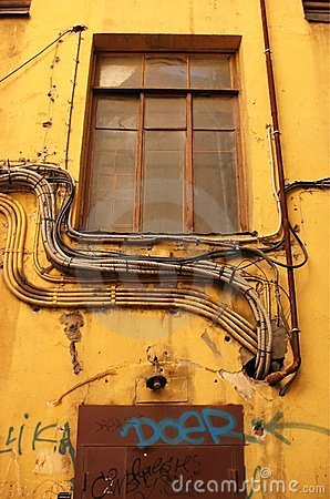 Cables on the wall