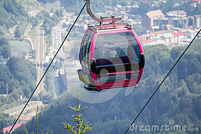 Cableway cabin
