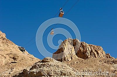 Cableway at Masada.