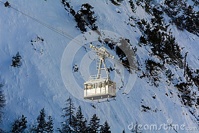 Cableway for skiers