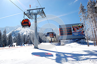 Cableway station in Jasna Low Tatras Editorial Photography