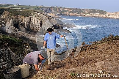 CABO BLANCO Asturias .SPAIN Editorial Photo