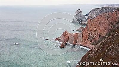 Cabo da Roca, der westliche Teil Europas, Portugal stock video footage