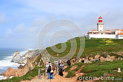 Cabo Da Roca, and lighhouse Portugal Editorial Image
