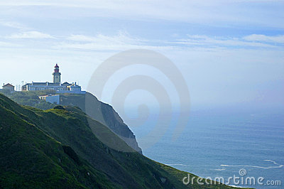 Cabo da roca lighthouse at portugal