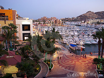 Cabo San Lucas, Marina at night
