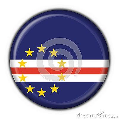 Cabo Verde button flag round shape