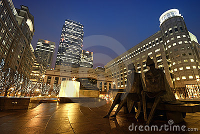 Cabot Square, London Editorial Image