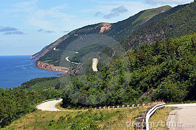 The Cabot Trail in Cape Breton