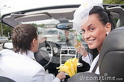 美丽的新娘cabrio新郎