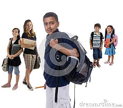 Cabritos de la escuela