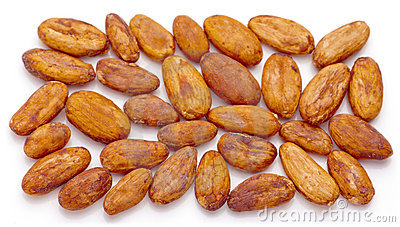 Cacao beans.