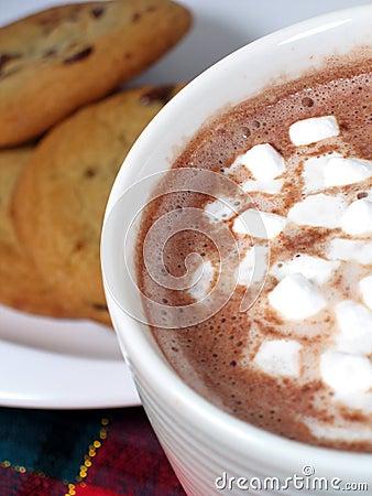 Cacao y galletas
