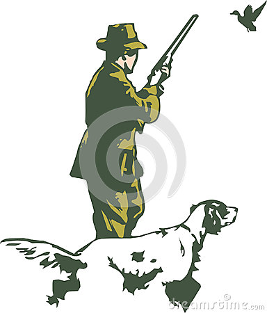 Cacciatore con il cane