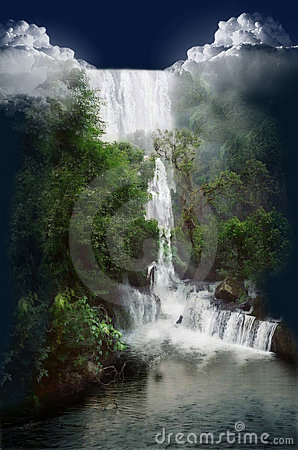 Cachoeira selvagem