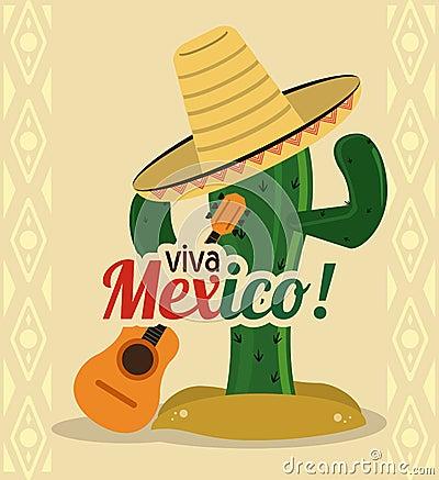 Cactus avec l 39 ic ne de chapeau culture du mexique dessin de vecteur photo stock image 73556484 - Dessin du mexique ...