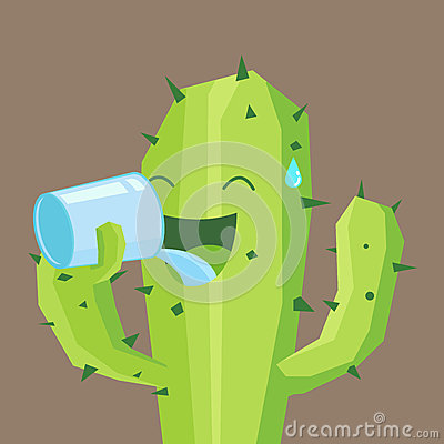 Free Cactus Drink A Glass Of Water Royalty Free Stock Image - 50022836
