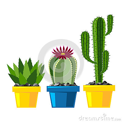 Free Cactus Flat Style Nature Desert Flower Green Cartoon Drawing Royalty Free Stock Images - 89445949
