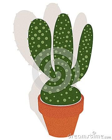 Cactus in a flowerpot