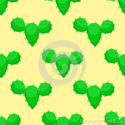 Free Cactus Nature Desert Flower Green Mexican Succulent Tropical Plant Seamless Pattern Cacti Floral Vector Illustration. Royalty Free Stock Photo - 95090555