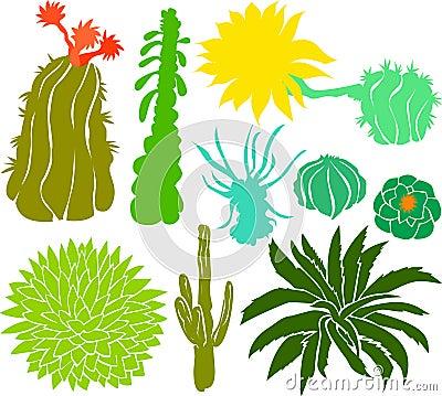 Free Cactus Set 01 Stock Images - 15230294