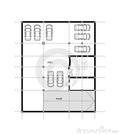 CAD Architectural Plan Drawing.