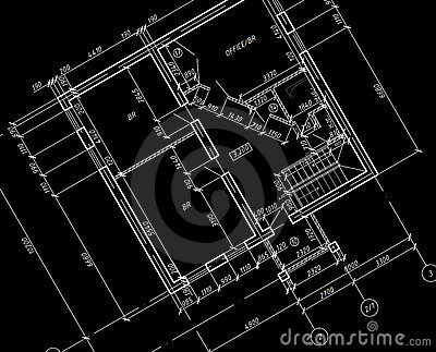 CAD Architectural Plan Drawing blueprint.