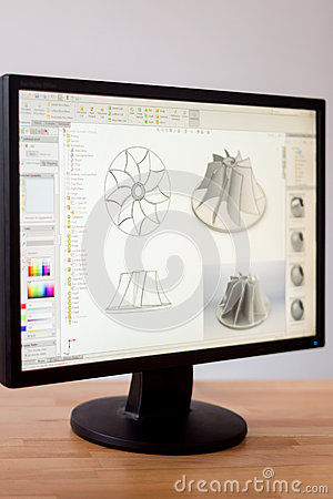 Free Cad Engineer Workstation Stock Photography - 65905852