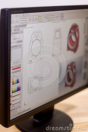 Free Cad Engineer Workstation Stock Photos - 65905973