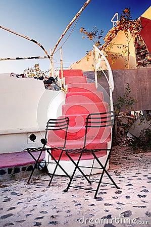Cadeira exterior do projeto