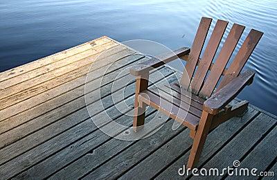 Cadeira na doca