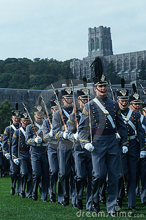 Cadets marching at Westpoint Military Academy Editorial Photography