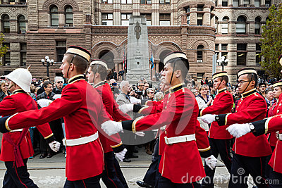 Cadets parade on Remebrance Day. Editorial Stock Image