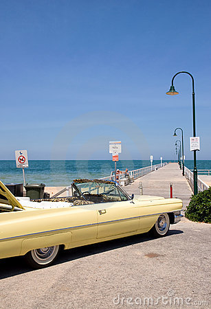 Cadillac on the beach Editorial Image