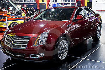 Cadillac CTS - Front Side - MPH Editorial Stock Image