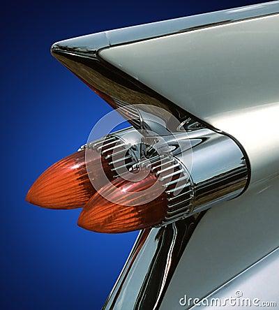 Cadillac fin on blue
