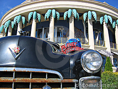 Cadillac and planet hollywood Editorial Photo