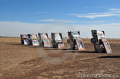 Cadillac Ranch Editorial Stock Photo