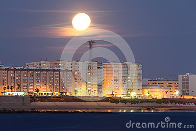 Cadiz under the moon shine