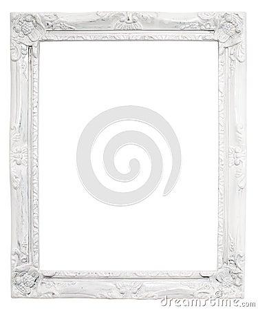 cadre blanc de vintage avec l 39 espace vide avec le chemin de coupure photo stock image 41789126. Black Bedroom Furniture Sets. Home Design Ideas