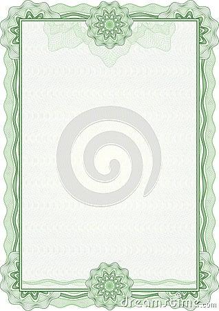 Cadre de guilloche pour le diplôme ou le certificat