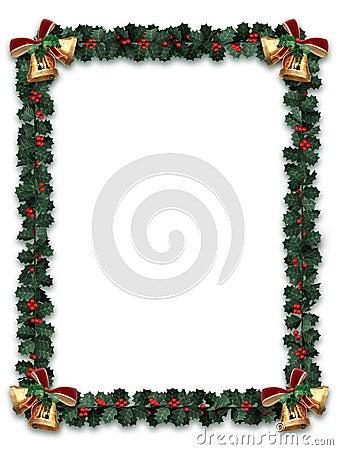 Cadre de guirlande de houx photos libres de droits image - Guirlande electrique pour sapin de noel ...