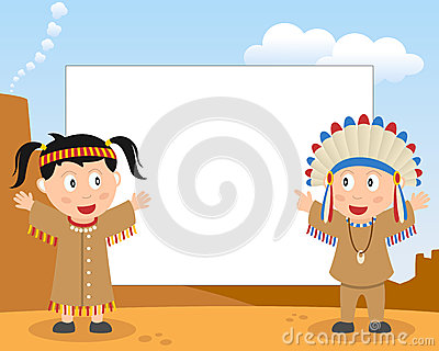 Cadre de photo d Indiens d Amerique