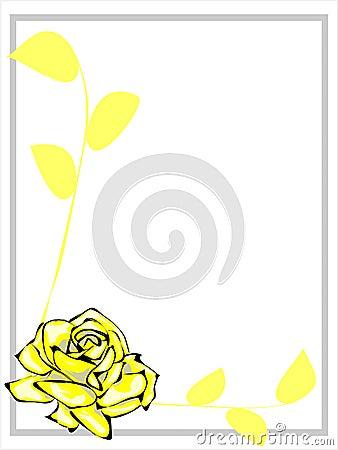 Cadre de Rose jaune