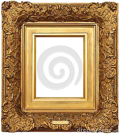 cadre de tableau d 39 or photographie stock image 21140632. Black Bedroom Furniture Sets. Home Design Ideas